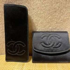 Chanel vintage glass and change/ credit card case